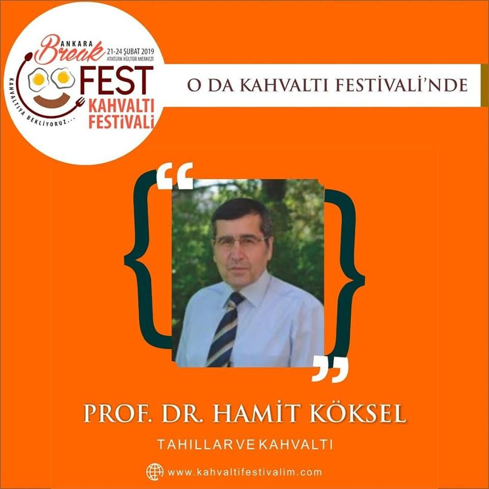 Ankara Kahvaltı Festivali Etkinlik Takvimi Prof.Dr. Hamit Köse