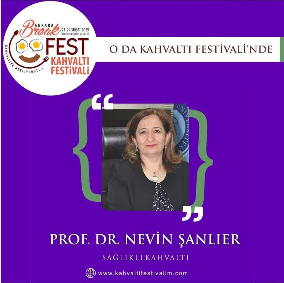 Prof. Dr. Nevin Şanlıer - Kahvaltı ve Sağlık Ankara Kahvaltı Festivali Etkinlik Takvimi 23 Şubat 2019
