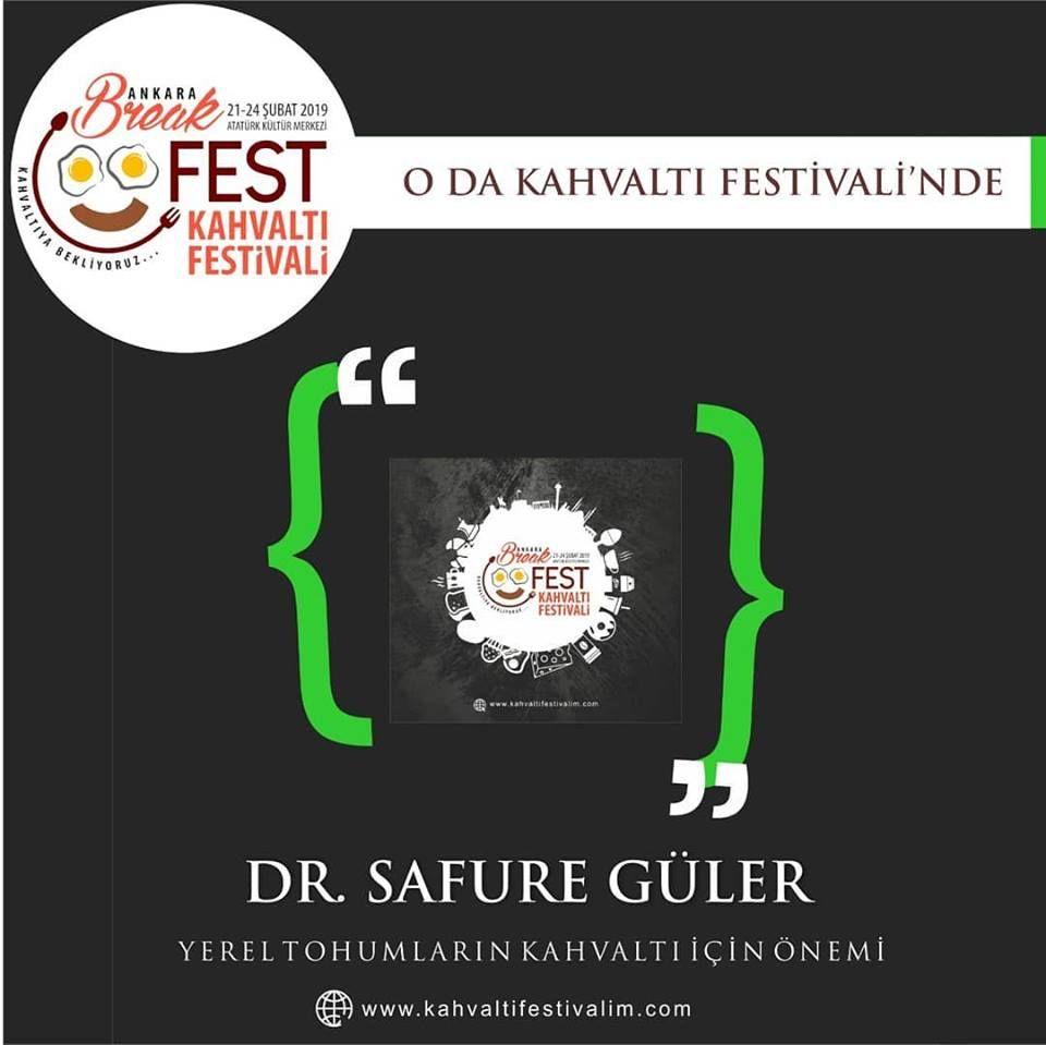 Dr. Safura Güler Yerel Tohumların kahvaltı için önemi Ankara Kahvaltı Festivali Etkinlik Takvimi 22 Şubat 2019