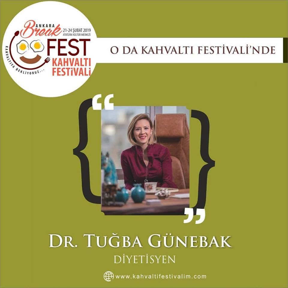 Dr. Tuba Günebak - 1 Ayda 5 kg Nasıl Verilir Ankara Kahvaltı Festivali Etkinlik Takvimi 23 Şubat 2019