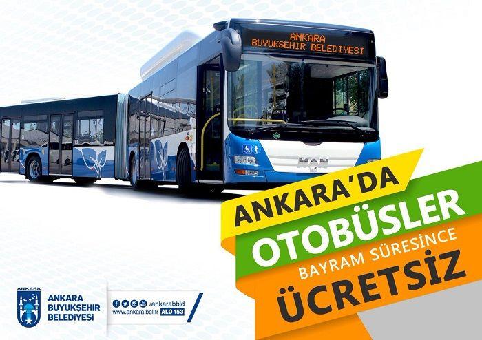 Ankara'da Bayram Boyunca EGO Ulaşım Ücretsiz