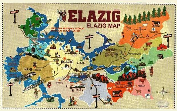Elazığ Turizm Haritası