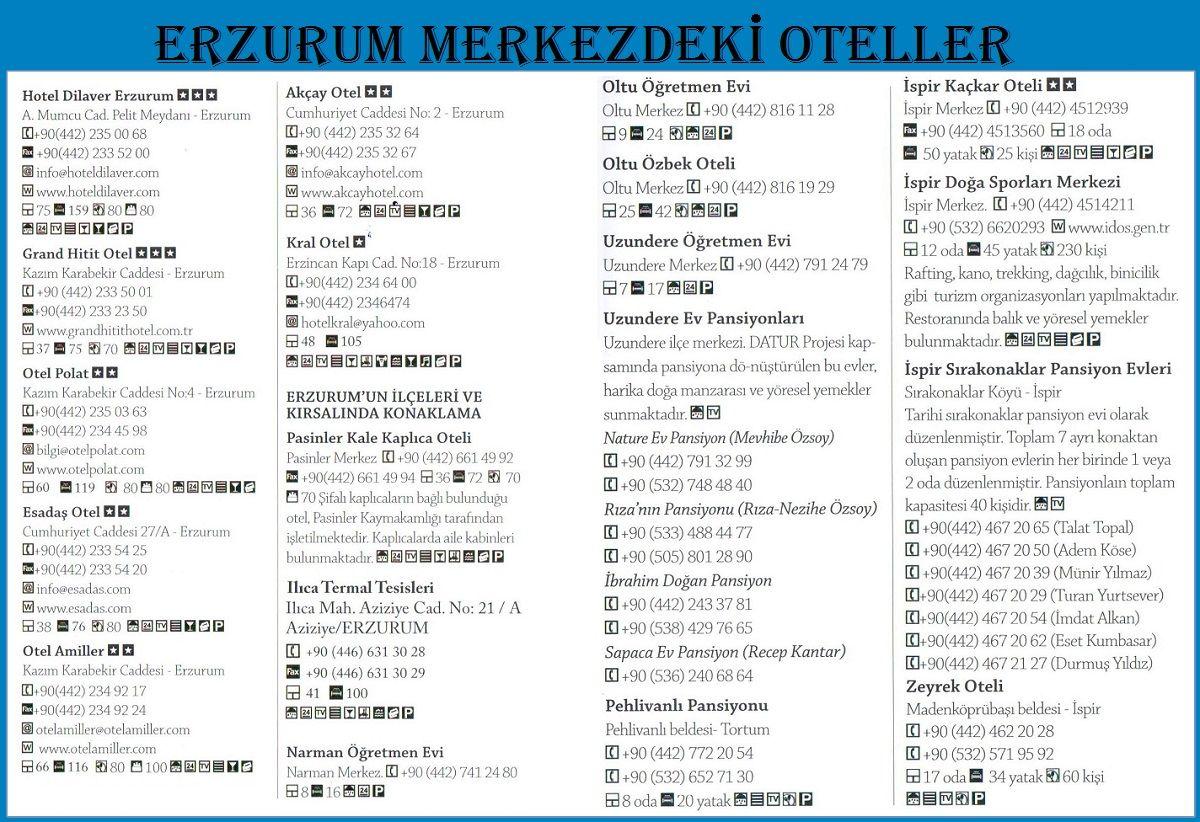 Erzurum Merkezdeki Oteller