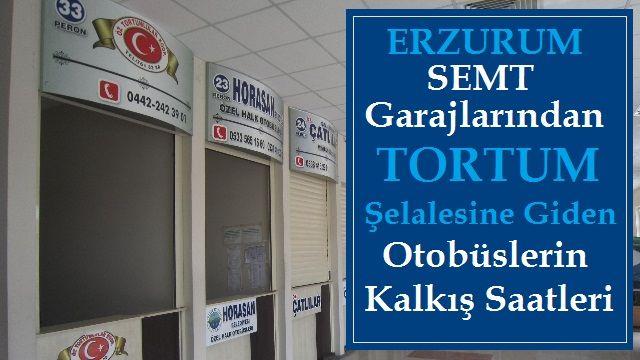 Erzurum Semt Garajlarından Tortum Şelalesi Yönüne Otobüs Kalkış Saatleri