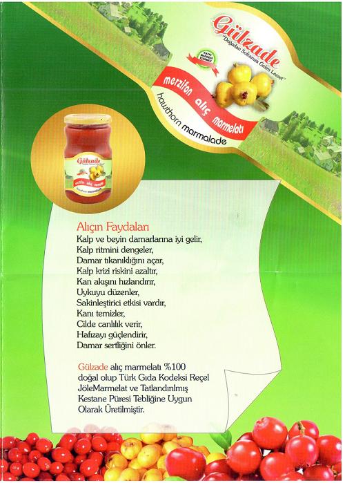 Gülzade Alıç Marmelatı