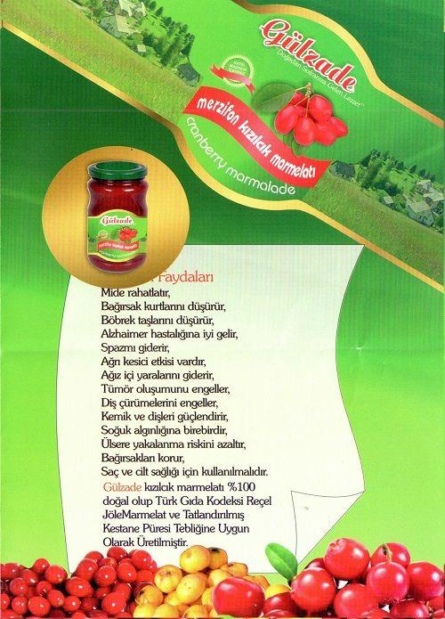 Gülzade Kızılcık Marmelatı