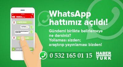 Haber Türk Whatsapp İhbar Hattı