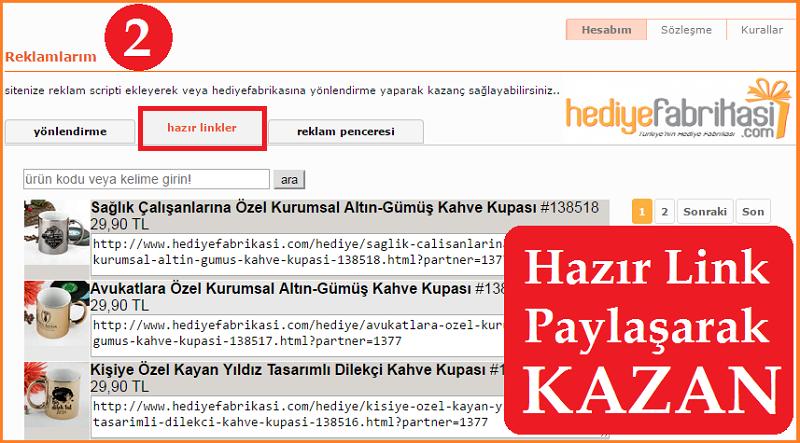 Hediye Fabrikası Hazır Link Paylaşarak Para Kazan