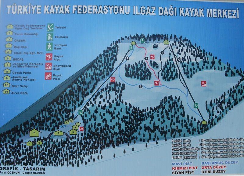 Ilgaz Dağı Kayak Pisti Haritası