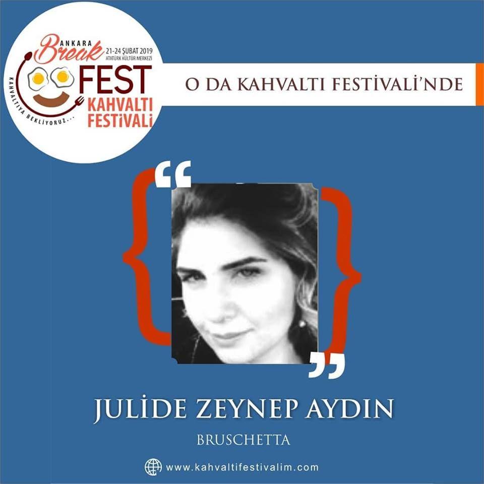 Jülide Zeynep Aydın ileBruschetta (İtalyan Klasiği) Ankara Kahvaltı Festivali Etkinlik Takvimi 22 Şubat 2019