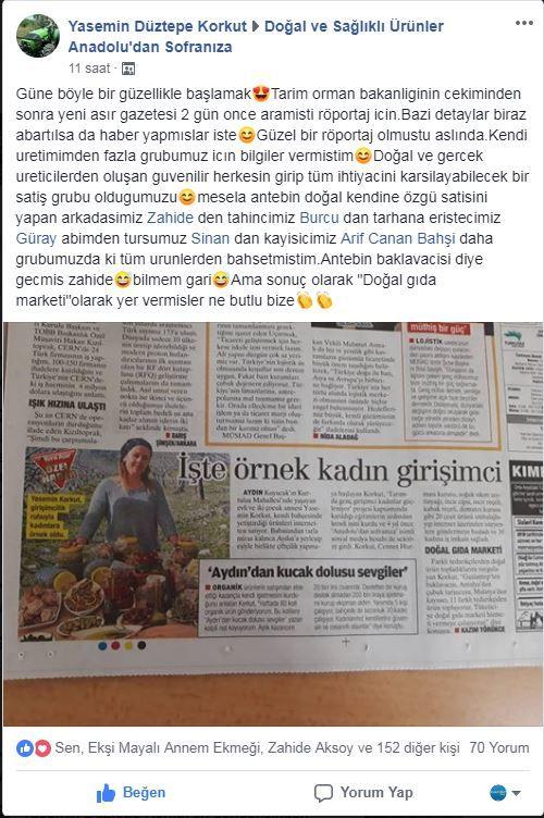 Facebook Anadolundan Sofranıza Grubu