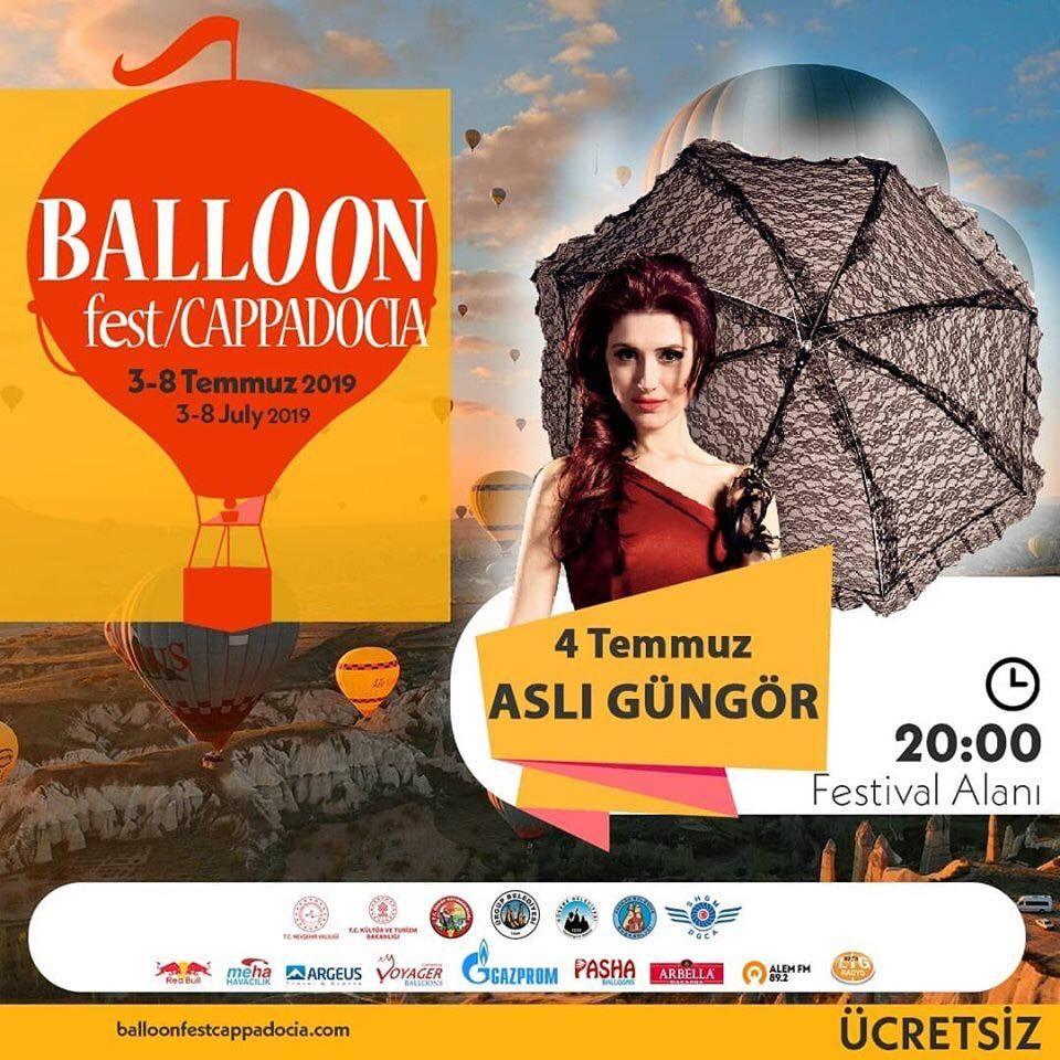 Kapadokya Balon Festivali 2019 Etkinlik Proğramı ASLI GÜNGÖR