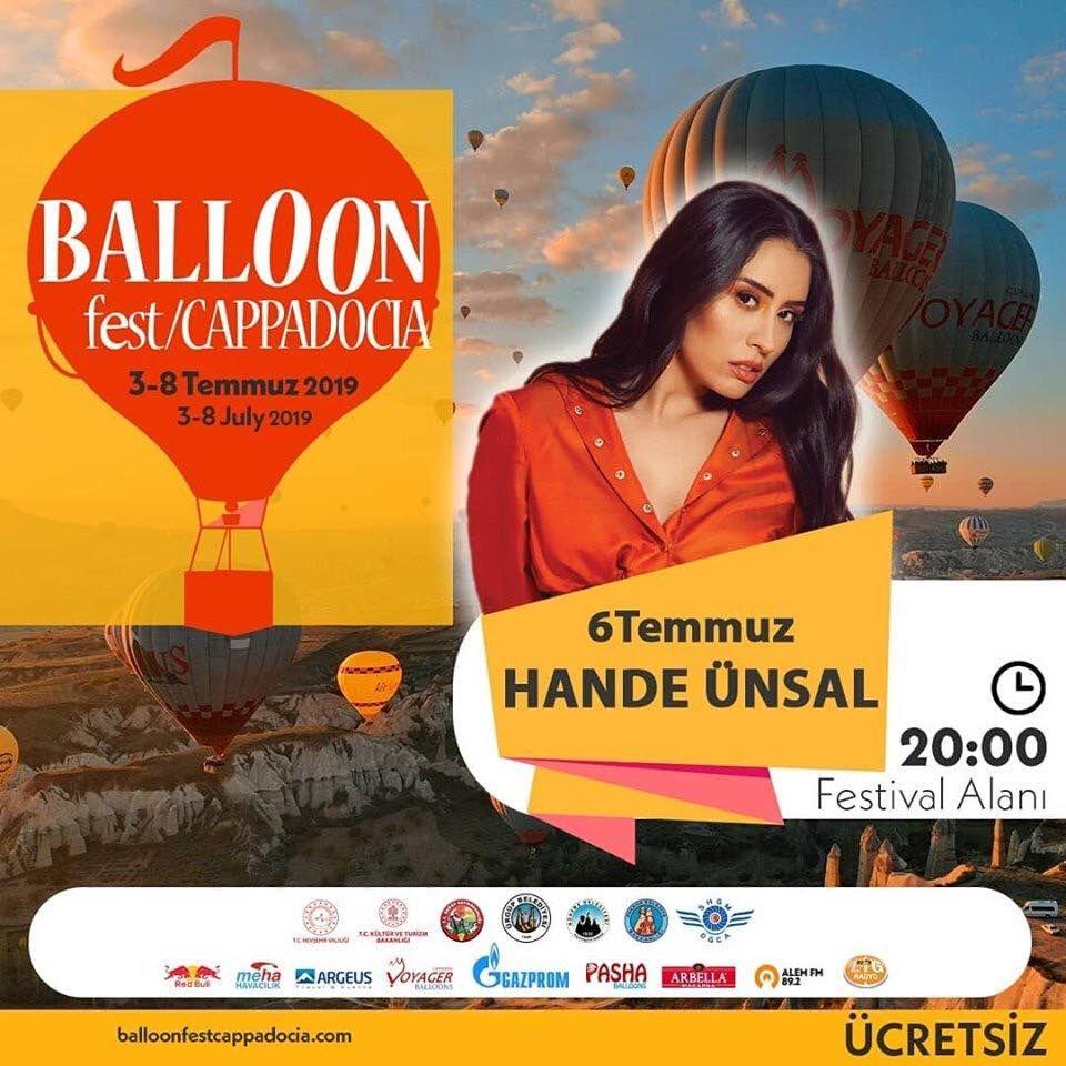 Kapadokya Balon Festivali 2019 Etkinlik Proğramı HANDE ÜNSAL
