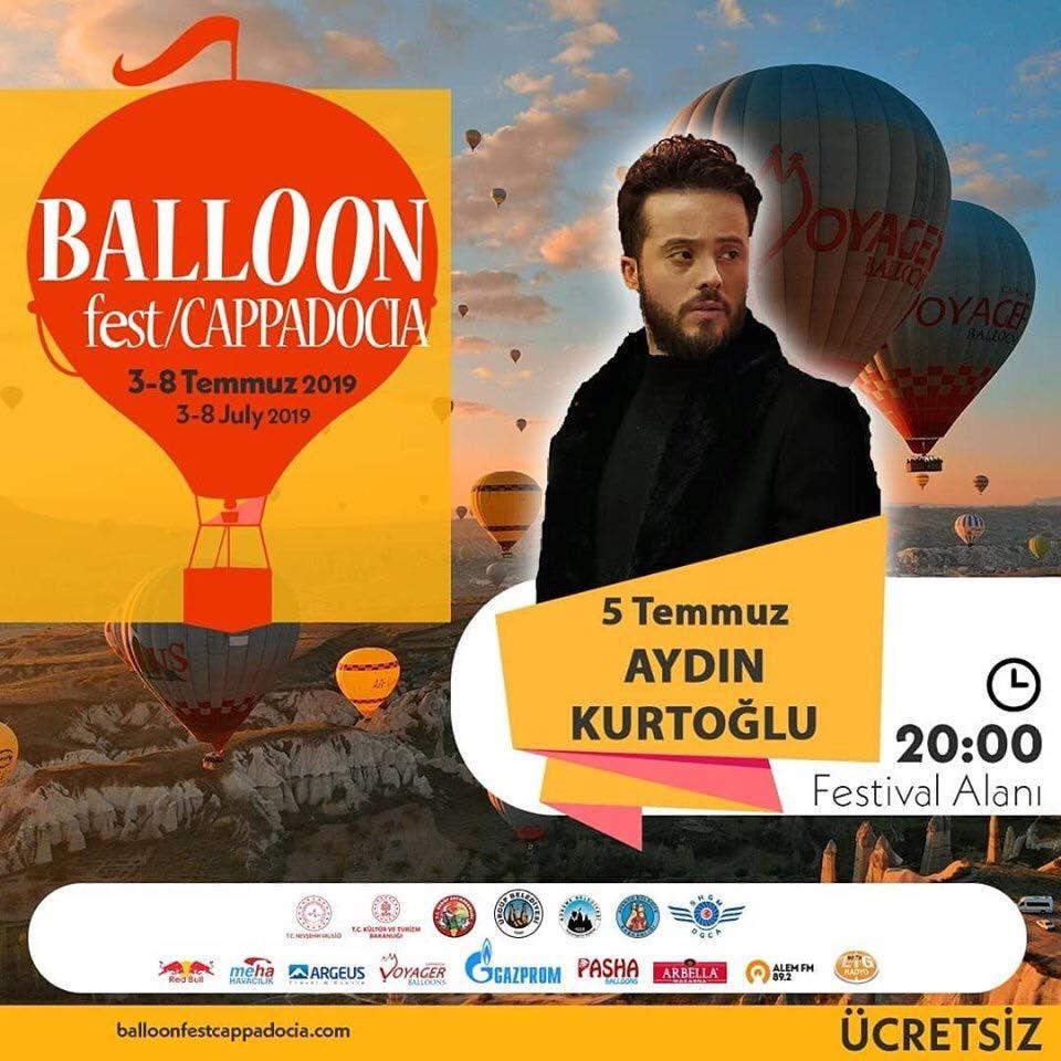Kapadokya Balon Festivali 2019 Etkinlik Proğramı AYDIN KURTOĞLU
