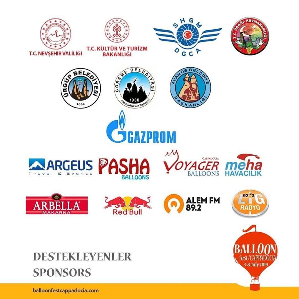 2019Kapadokya Balon Festivali sponsorları