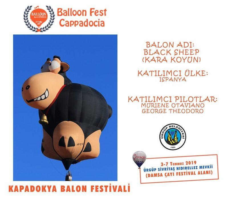 2019 Kapadokya Balon Festivaline Katılan Ülkeler