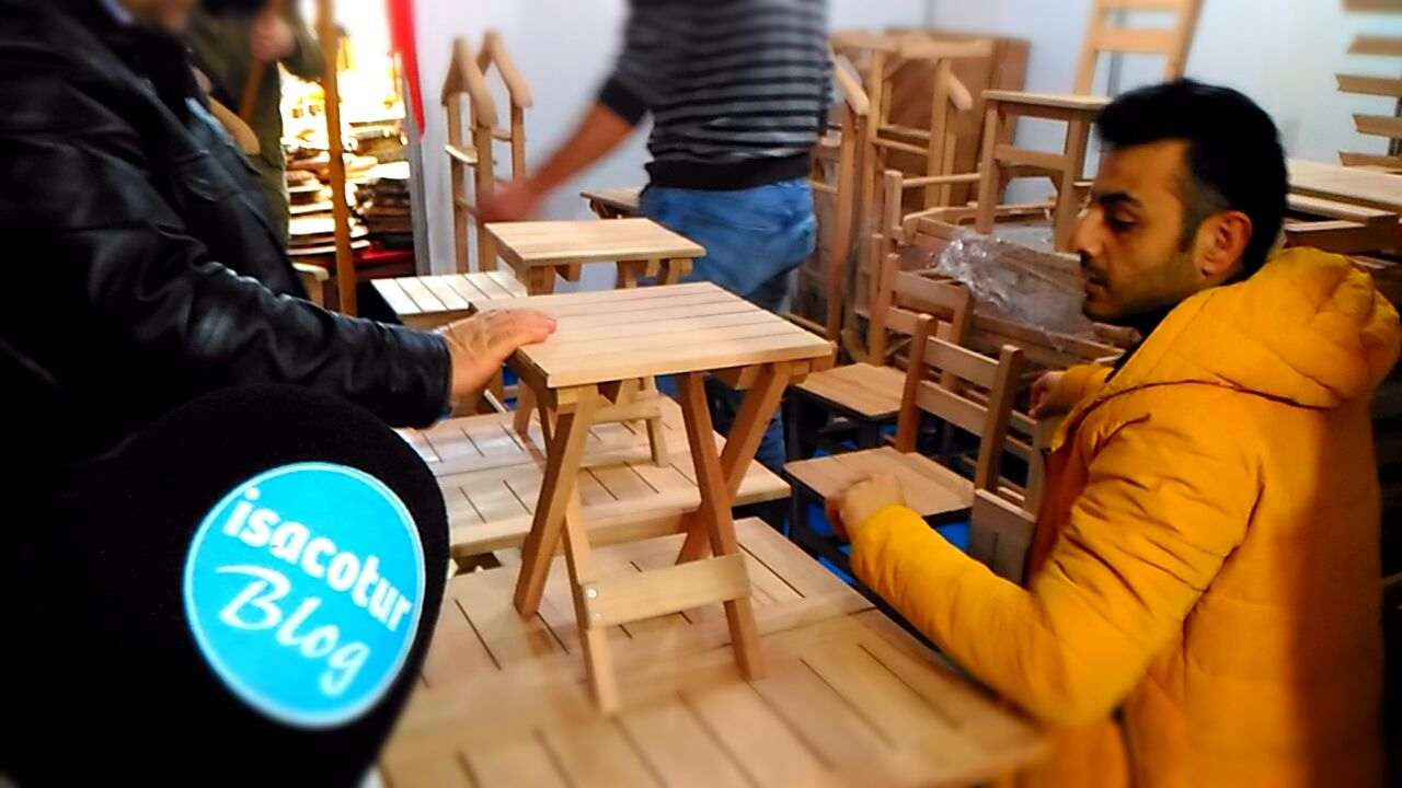 Kastamonu Günleri 2019 Fotoğrafları, Kastamonu ahşap masa tabure