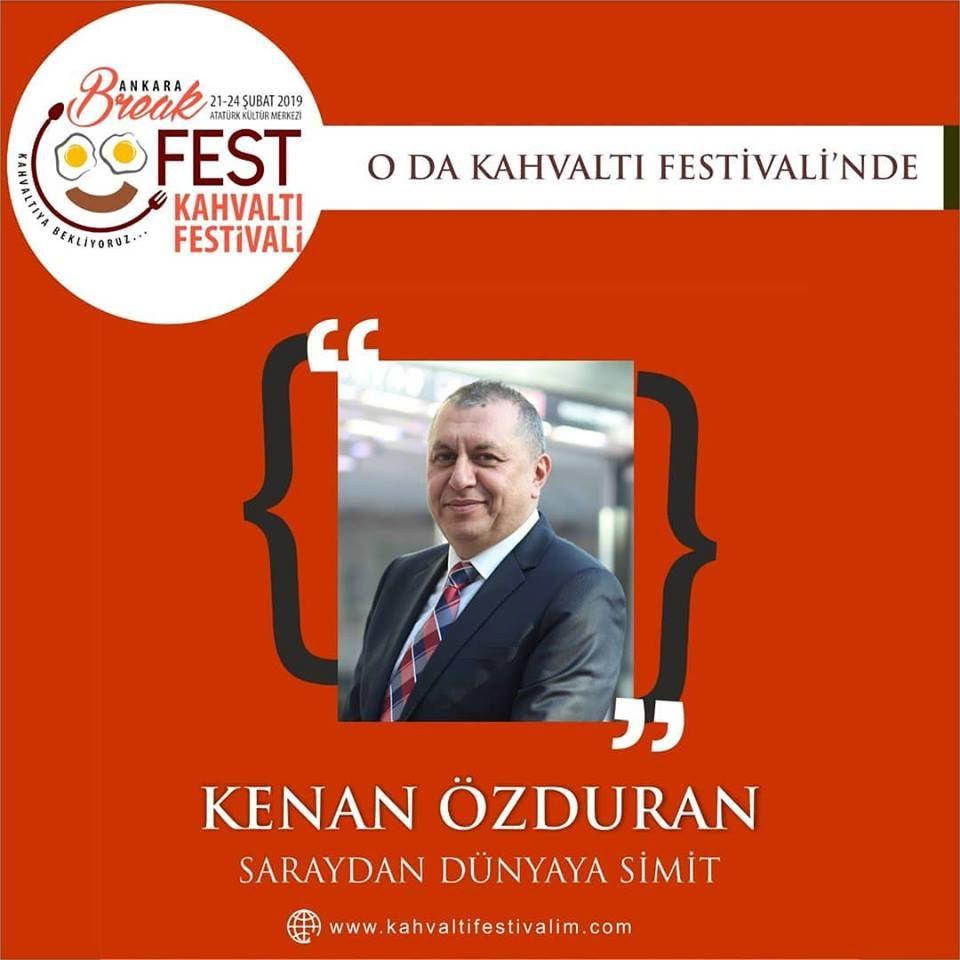 Kenan Özduran - Selin Apa (Simitçi Dünyası) Saraydan Dünyaya Ankara Kahvaltı Festivali Etkinlik Takvimi 23 Şubat 2019