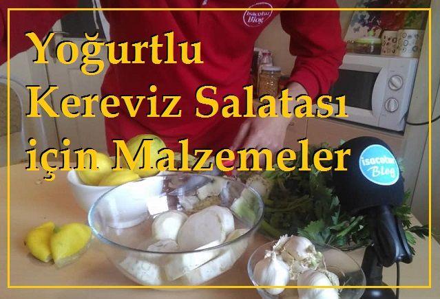 Yoğurtlu Kereviz Salatası için Malzemeler