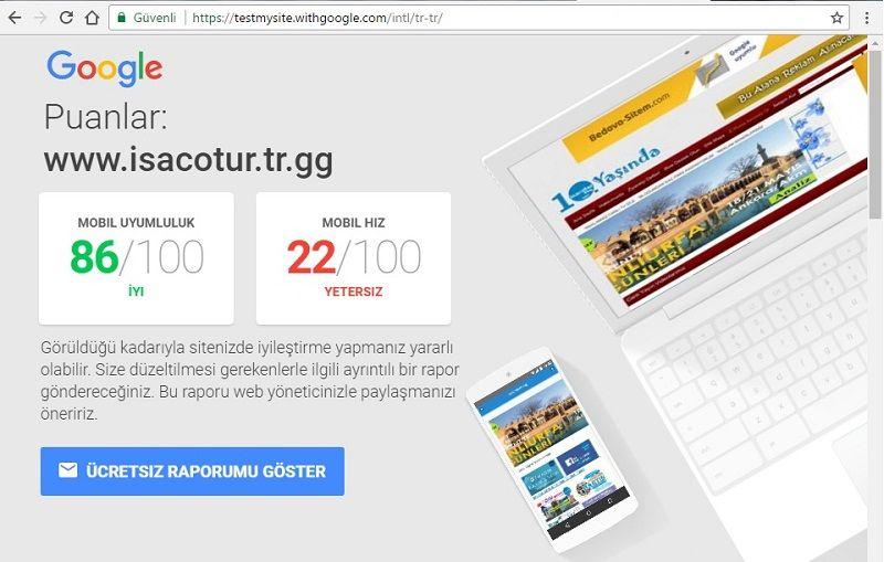 Mobil Site Hız Testi