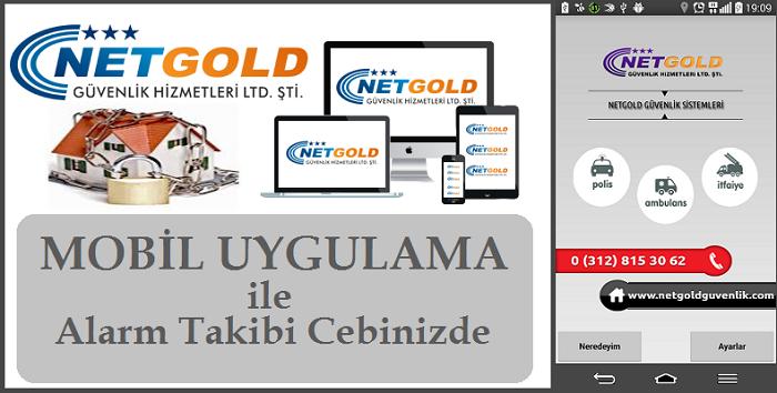 NetGold Güvenlik Mobil Uygulama Alarm Takibi