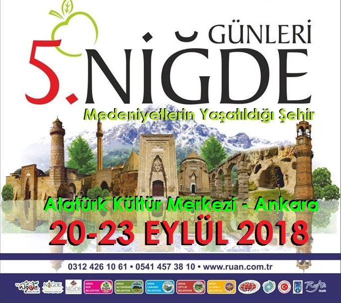 5.Niğde Tanıtım Günleri Ankara 2018