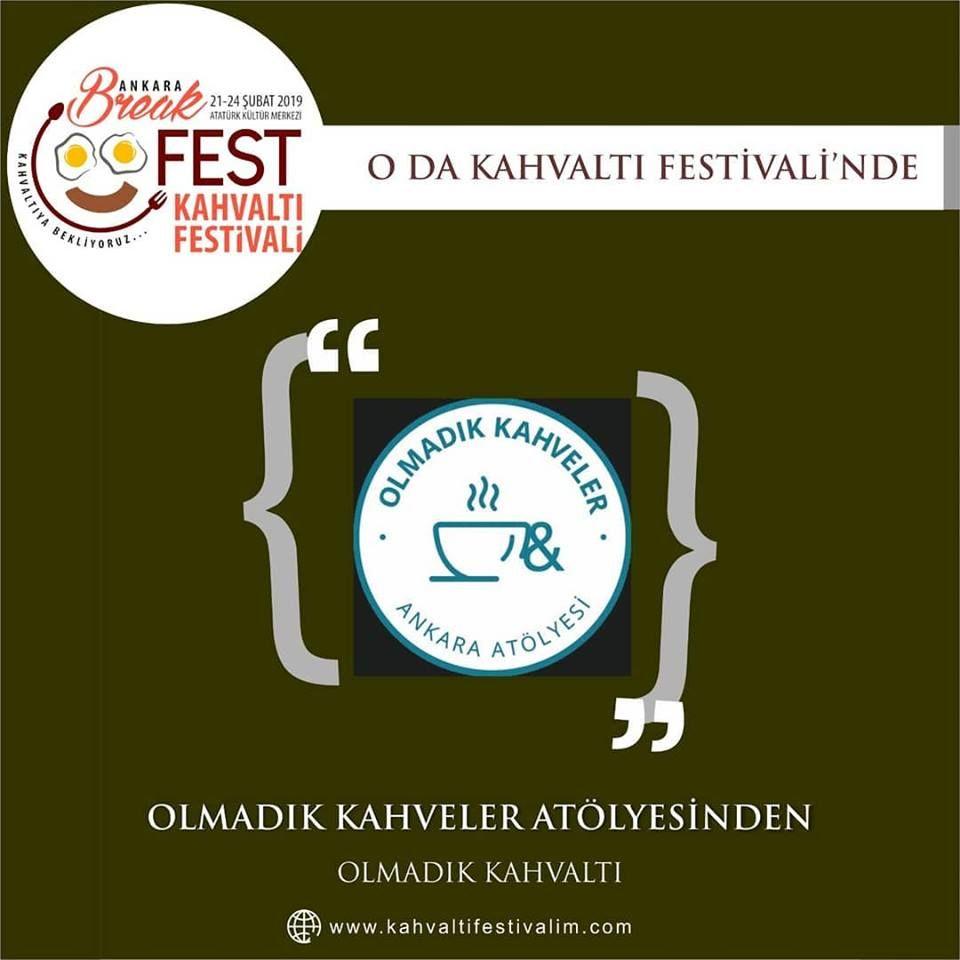 Olmadık Kahvelerden Olmadık Kahvaltı Ankara Kahvaltı Festivali Etkinlik Takvimi 23 Şubat 2019