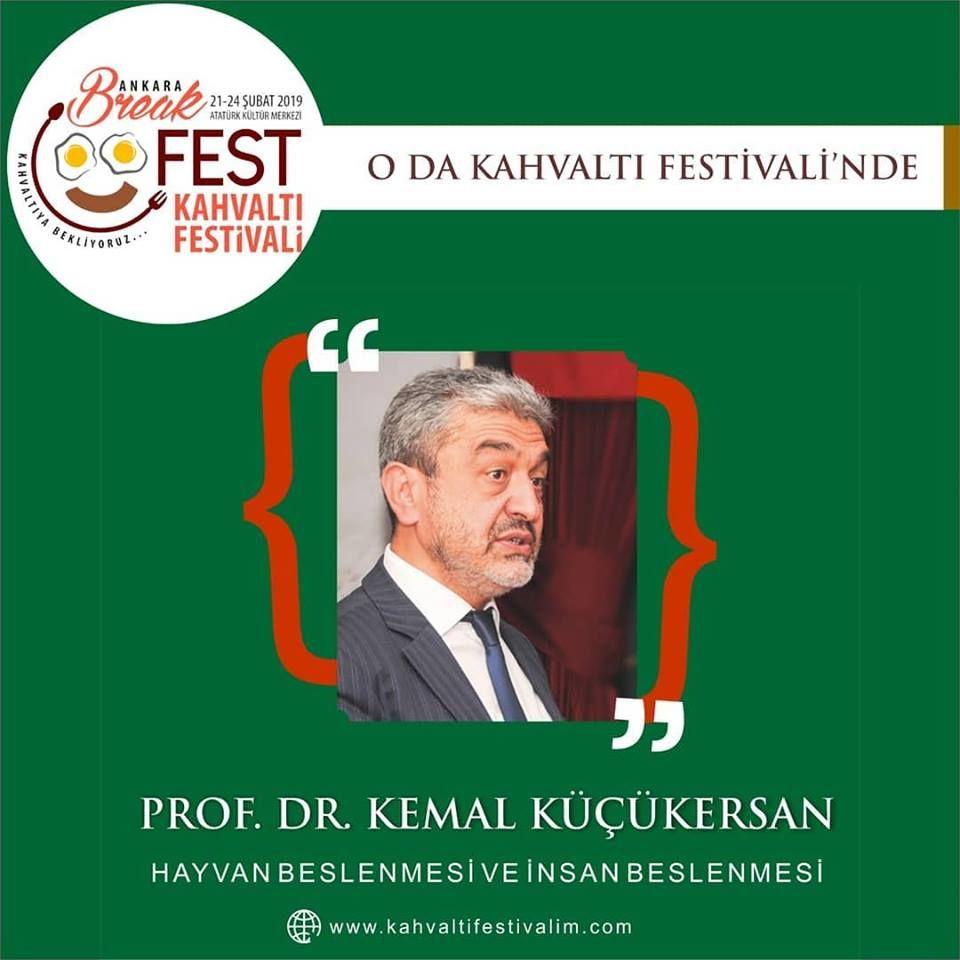 Prof. Dr. Kemal Küçükersan Hayvan beslenmesinin insan beslenmesine etkisiAnkara Kahvaltı Festivali Etkinlik Takvimi 24 Şubat 2019
