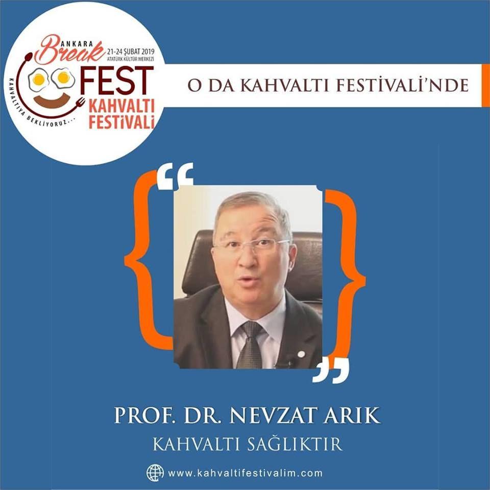 Prof. Dr. Nevzat Arık ile Tahıllar ve BeslenmeAnkara Kahvaltı Festivali Etkinlik Takvimi 24 Şubat 2019