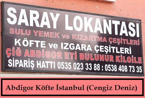 Saray Lokantası Abdigor Köfte İstanbul (Cengiz Deniz)