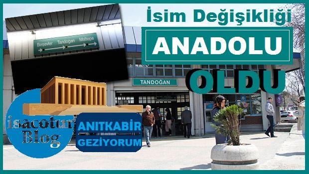 Anadolu (Tandoğan) metro durağı