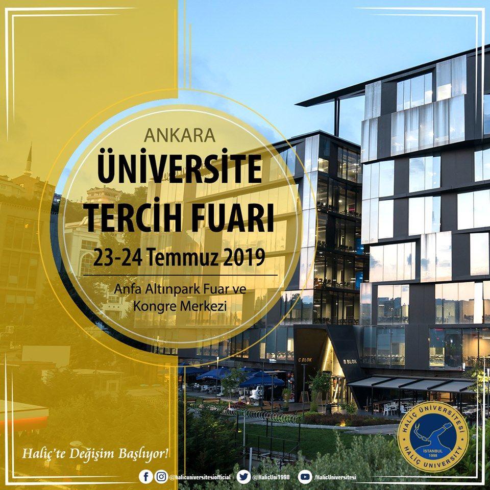 Üniversite Tercih Fuarı 2019 Ankara HALİÇ ÜNİVERSİTESİ