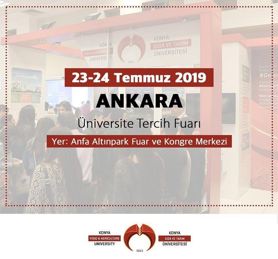 Üniversite Tercih Fuarı 2019 Ankara KONYA GIDA TARIM ÜNİVERSİTESİ