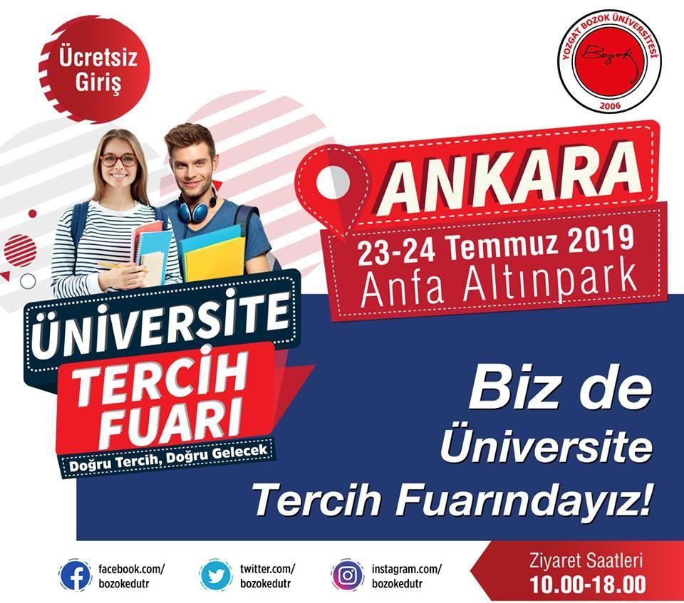 Üniversite Tercih Fuarı 2019 Ankara YOZGAT BOZOK ÜNİVERSİTESİ