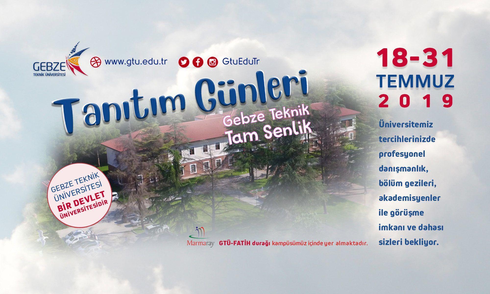 Üniversite Tercih Fuarı 2019 Ankara GEBZE TEKNİK ÜNİVERSİTESİ