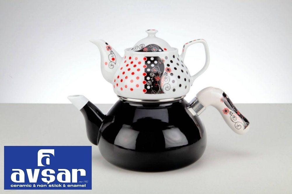 Verda Çaydanlık Takımı Avşar Emaye