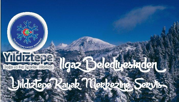 Ilgaz Belediyesinden Yıldıztepe Kayak Merkezine Servis