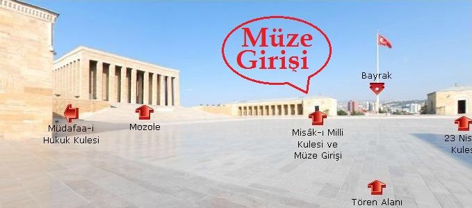 Anıtkabir Tören Alanı ve Müze Girişi