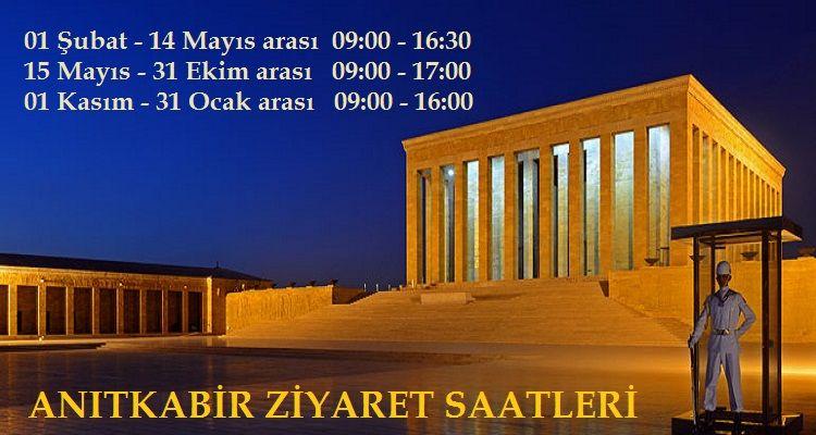 Anıtkabir Ziyaret Saatleri