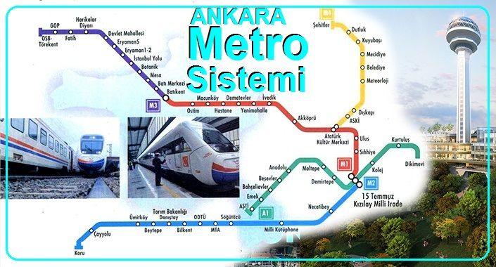 Ankara Raylı Metro Sistem ve Metro Durakları
