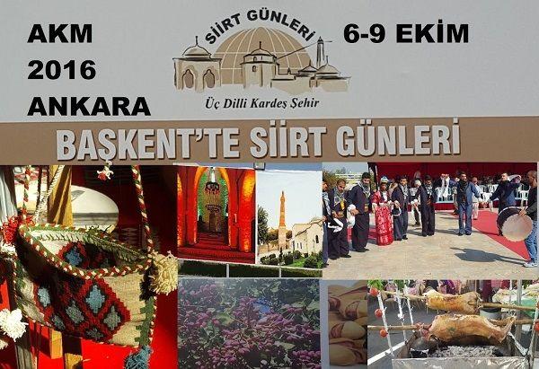 Başkent Ankara'da Siirt Tanıtım Günleri 2016