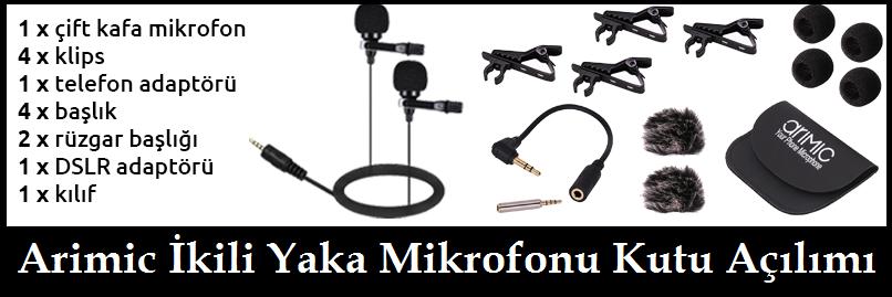 Arimic İkili Yaka Mikrofonu Kutu Açılımı