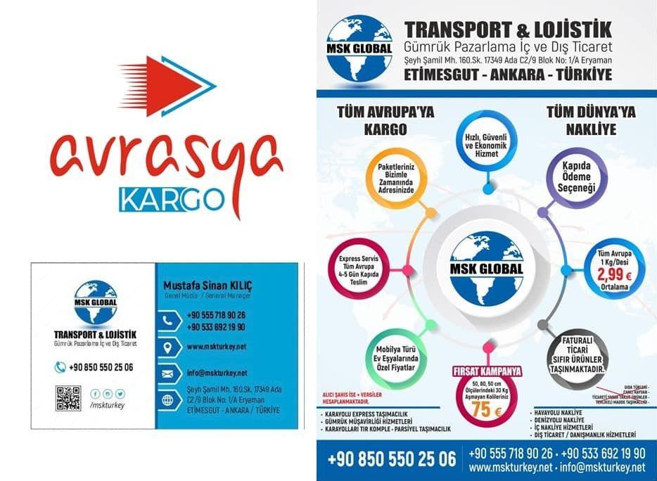 """Ankara Lojistik Nakliyat Çözüm Ortağınız """"MSK Global"""""""