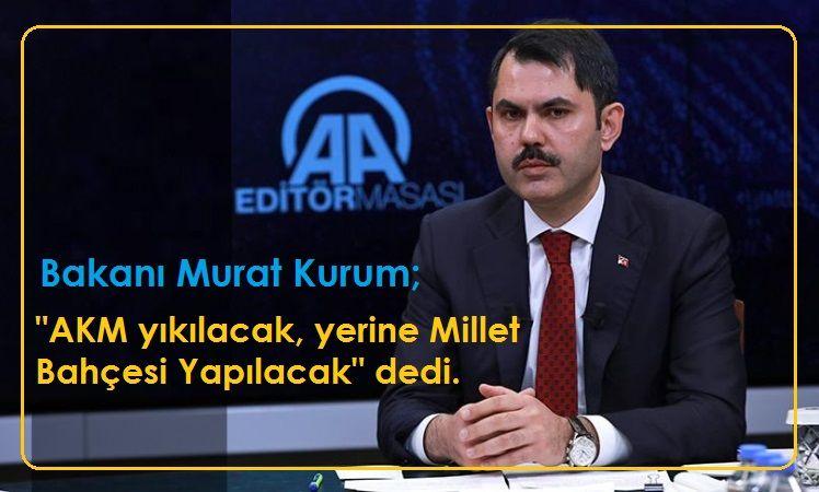 Bakan Murat Kurum, AA Editör Masasına Konuk Oldu