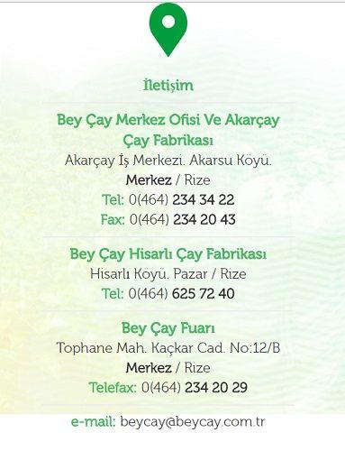 Beyçay Adres