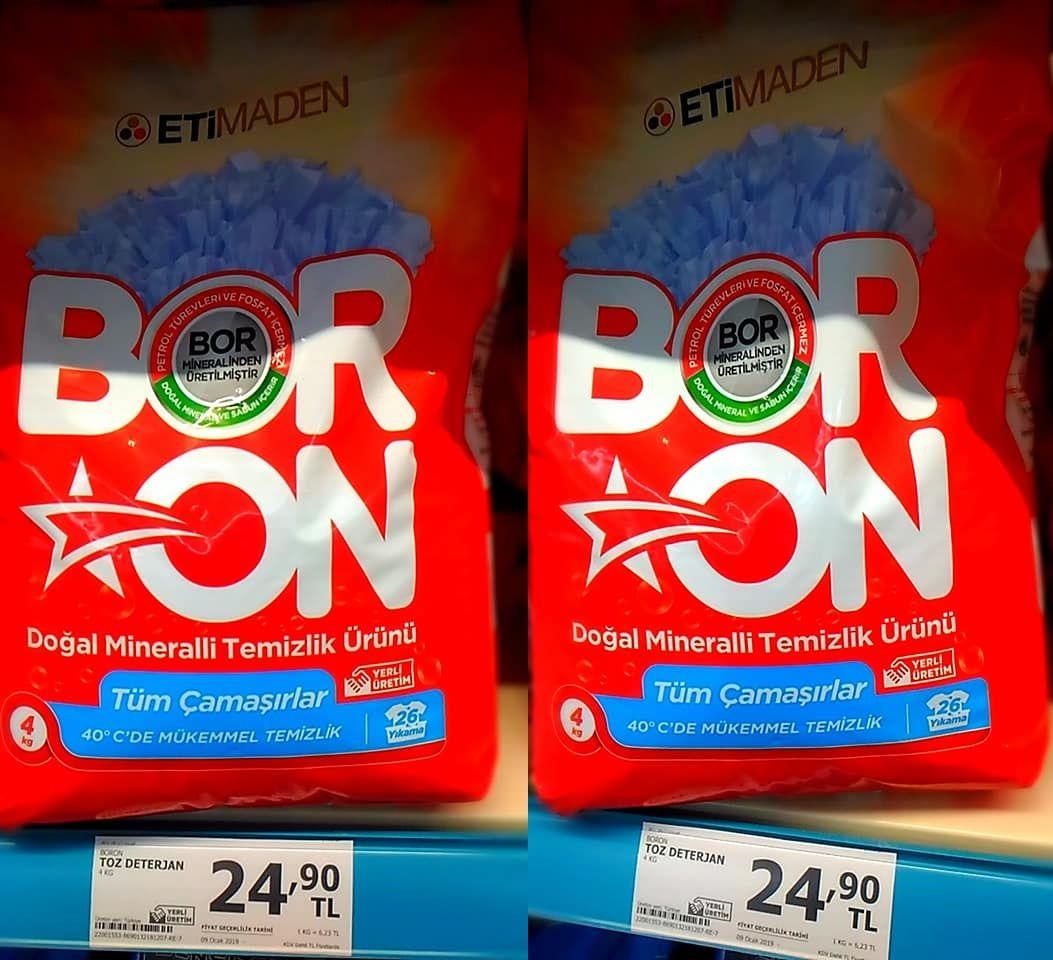 BORON nedir BORONun satış fiyatı ne kadar İşte ETİMADEN ilk yerli temizlik ürünü 92
