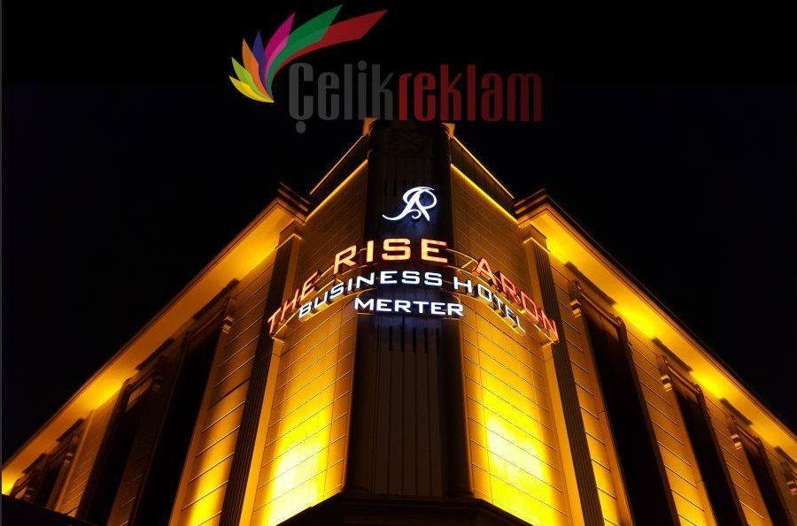 The Rise Aron Business Hotel Çelik Reklam Tabela Çalışması