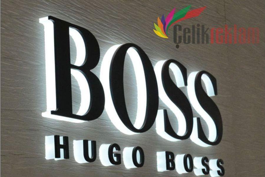 Hugo Boss Çelik Reklam Tabela Çalışması