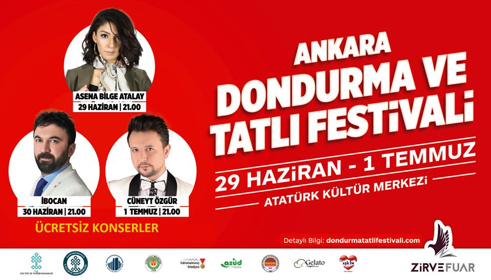 1.Ankara Dondurma ve Tatlı Festivali Etkinlik Takvimi