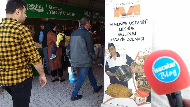 kadayıfçı muammer usta Başkentte 6.Erzurum Tanıtım Günleri